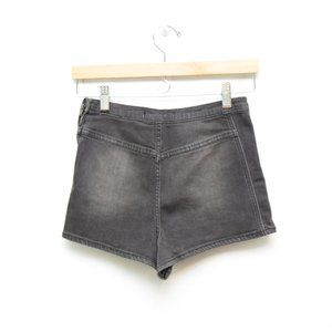 Free People 26 Radar Love Shorts Gray Side Zip Wom